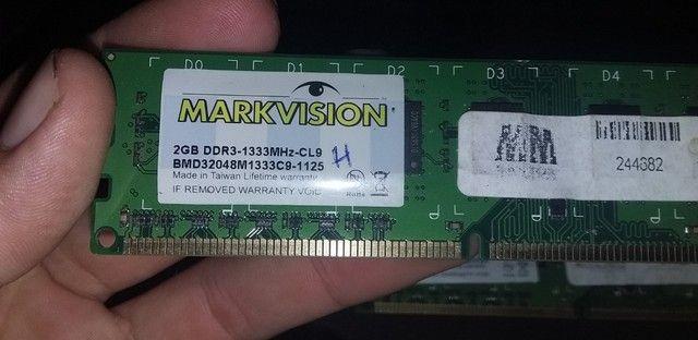 Memoria DDR3 2 pente de 2GB para PC funcionando perfeitamente - Foto 2
