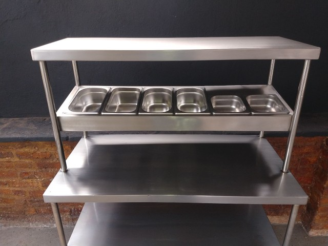 Coifa de inox ,mesa , estantes , exaustor - Foto 3