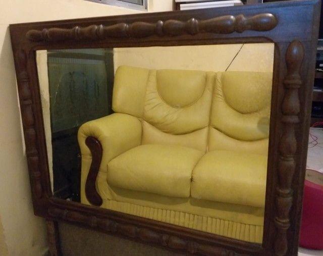 Espelho antigo lindo com moldura trabalhada - Foto 6