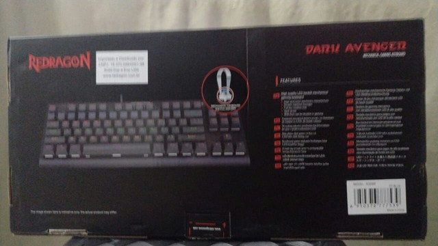 Teclado Gamer Redragon Dark Avenger Rainbow Switch Azul - Foto 2