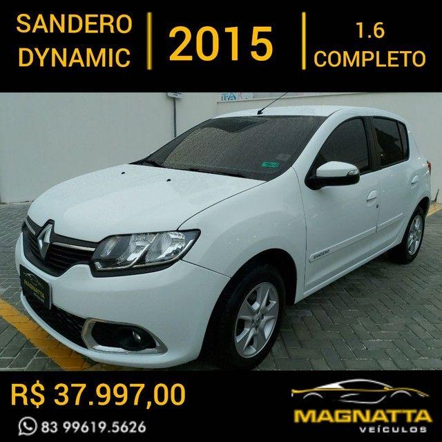 SANDERO DYNAMIC 1.6 2015 COMPLETO DE TUDO!