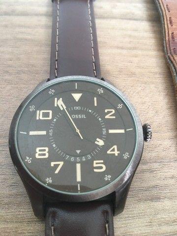 Relógio Fs4459 Men Watches: Brown Leather Strap - Fossil  - Foto 2