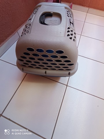Caixa de Transporte tamanho 3 Panther Pop Plast Pet Azul para Cães e Gatos - Foto 6