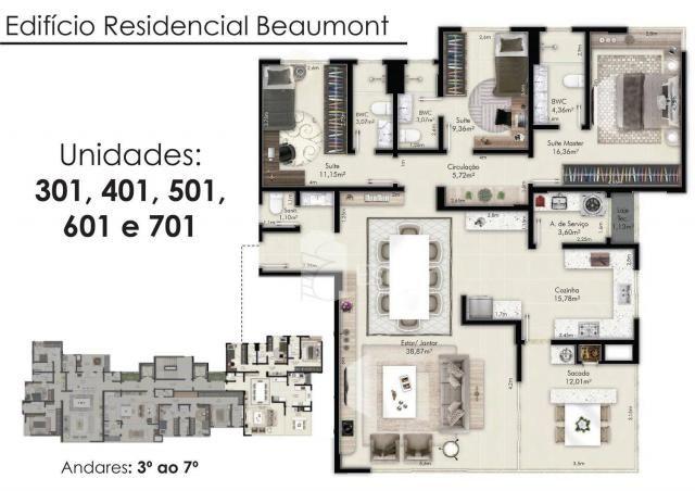 Apartamento alto padrão com 03 suítes no água verde, curitiba - Foto 20