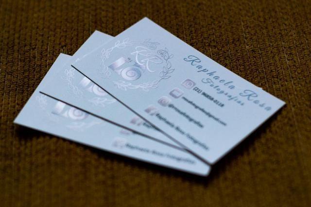Cartão de visitas Verniz Localizado - Foto 4