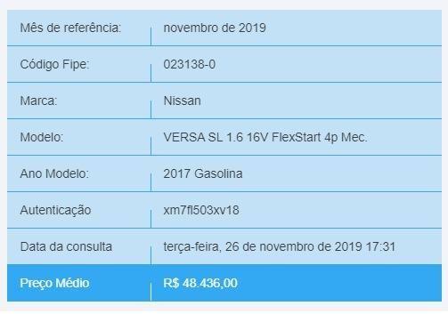 Nissan/Versa/SL/1.6/Completo/2017/2018 - Foto 9