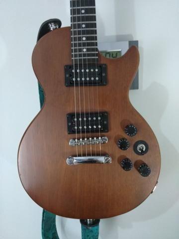 Guitarra Epiphone Walnut Vintage Ve Blindada, tarraxas klusson +upgrades