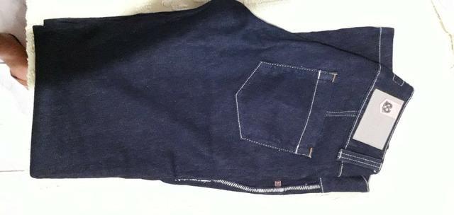 Calça Jeans Preta Feminina - Foto 2