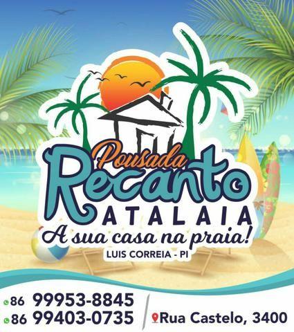 POUSADA RECANTO ATALAIA! Luís correia-PI. localizado na praia de atalaia.