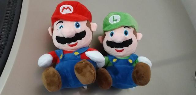 Bonecos de Pelúcia turma do mario Bros