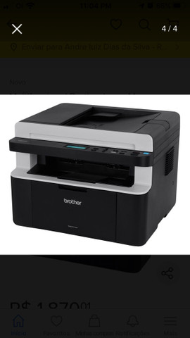 Impressora a laser DCP 1617 pouco usada, valor $ 1100 - Foto 2