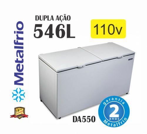 Freezer 2 Tampas Congelados Açai Sorvetes Metalfrio