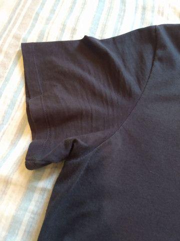 Camiseta. Tam. GG. Preta. 100% Algodão - Foto 2