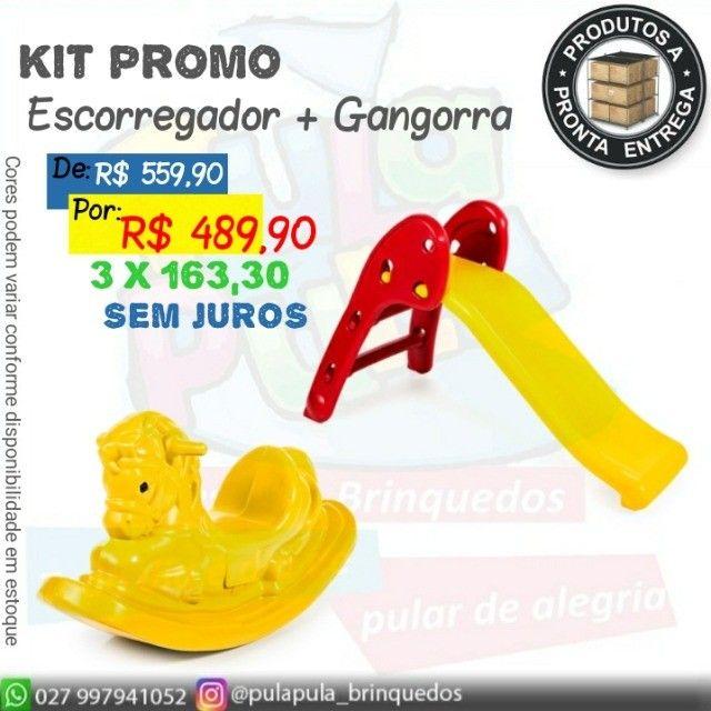 Promoção Gangorras e Escorregadores - Kits promo queima de estoque - Foto 4