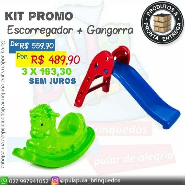 Promoção Gangorras e Escorregadores - Kits promo queima de estoque - Foto 6