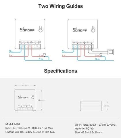 Interruptor inteligente SONOFF MINI - Foto 3