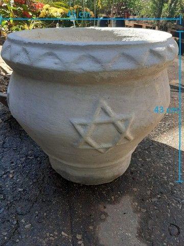 Vasos variados de cimento para plantas - Foto 4