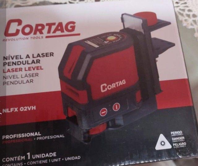 Nível à laser  Cortag 2linhas vermelho $530 - Foto 2