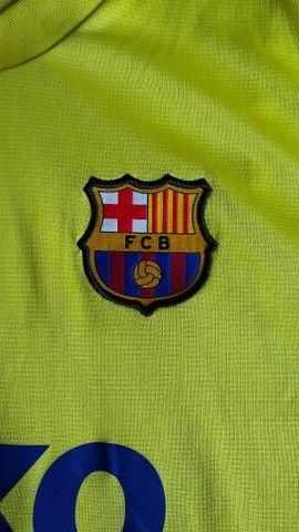 Camisa Oficial Treino Barcelona - Foto 3