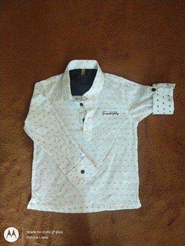 Camisa social 3/4 menino