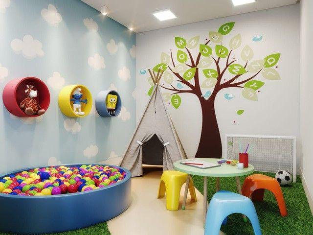 DF/ Apto com 2 qts + varanda gourmet + piso no porcelanato  - Foto 4