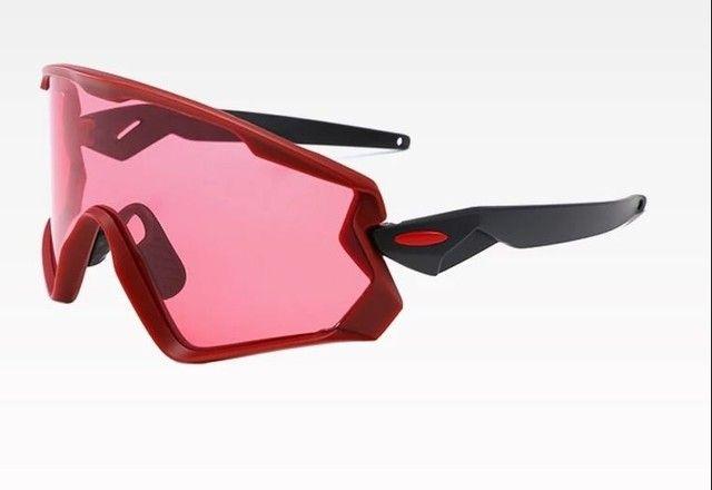 Óculos de ciclismo lente rosa vôlei corrida esportes - Foto 2