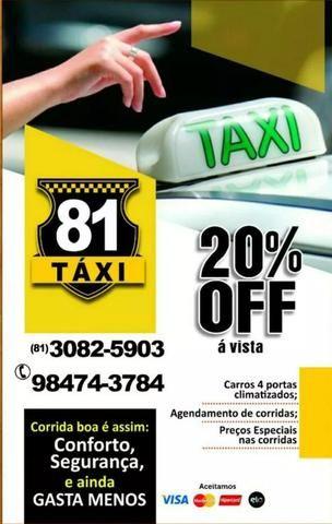 Viagens táxi 20% de desconto