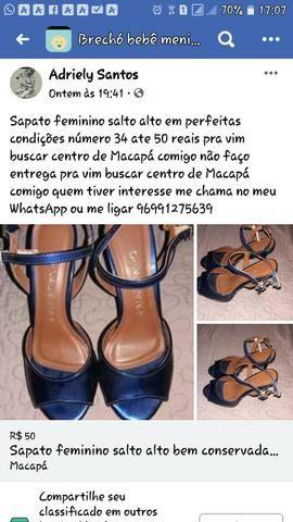 Sapato feminino bem conservada número 34