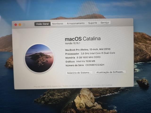 Macbook Pro Retina 2014 13p Proc. I5 8gb Ram Com Hd Ssd 128 - Foto 5