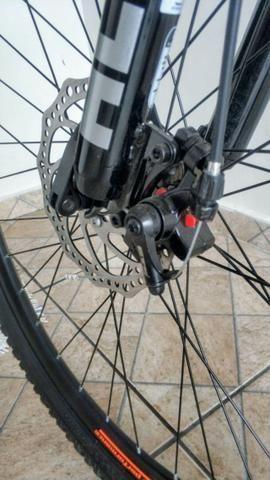 Novo! Bicicleta Aro 29 - 21v - Câmbios Shimano - Freio a Disco Mecânico com Suspensão - Foto 3