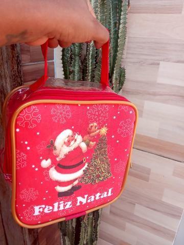 Bolsa de natal , transparente para você presentear quem você ama nesse fim de ano