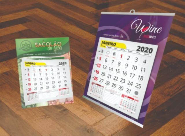 Exclusivo Calendários 2020 Personalizados Vários Modelos Aproveite e Peça Agora - Foto 5