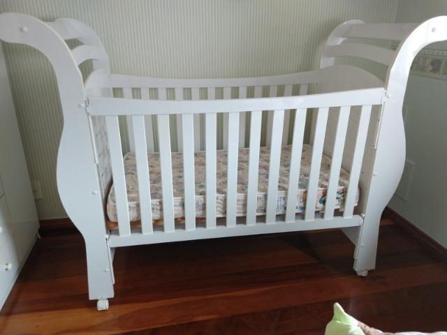 Berço mini cama com colchão muito novo - Foto 2