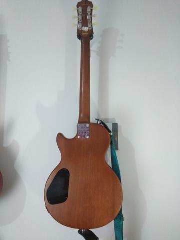 Guitarra Epiphone Walnut Vintage Ve Blindada, tarraxas klusson +upgrades - Foto 4
