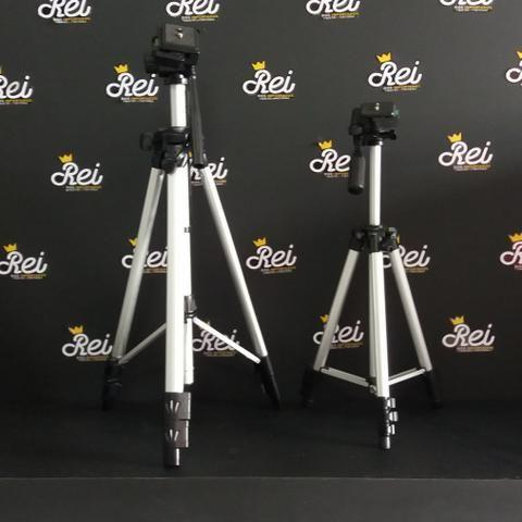 Tripé para câmeras ou celulares de 1m, 1,20m, 1,65m e 1,70m com travas manuais