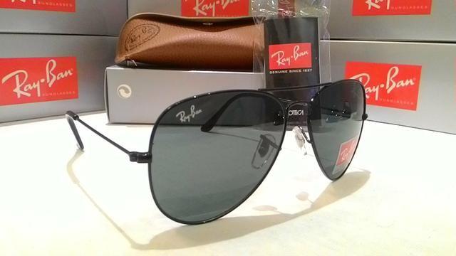 Óculos de Sol RayBan Aviador preto - Bijouterias, relógios e ... 4710f133ab