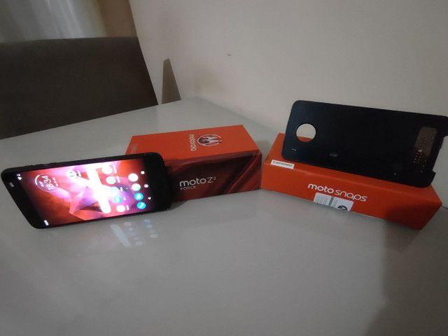 Celular Motorola Z² Force + Snap JBL c/ Bateria e tela na garantia