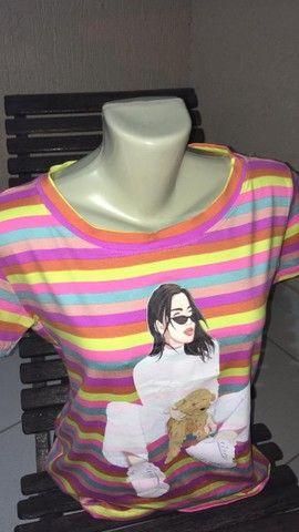 T-Shirts e Blusinhas femininas - Foto 6