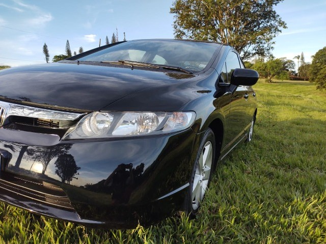 Honda Civic 2008 Flex Preto Baixo Km sem detalhes - Foto 4