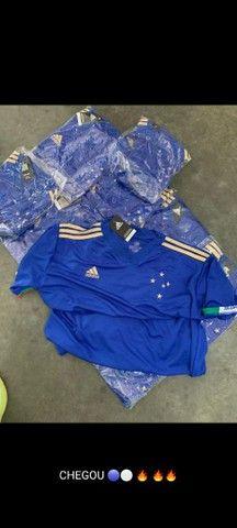 Camisa Cruzeiro I 21/22 s/n° Torcedor Adidas Masculina - Azul<br><br> - Foto 4