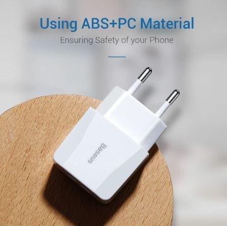 Carregador rápido de 2,1A duplo USB, portátil / Baseus - Foto 4