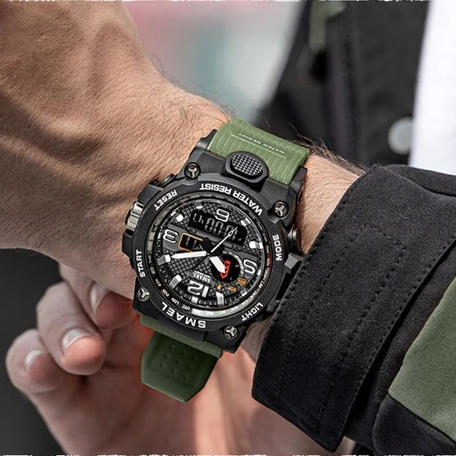 Relogio de pulso masculino esportivo militar a prova d'água - Foto 2