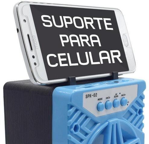 Caixa de Som 1 Alto-falantes Bluetooth Portatil Android celular - Foto 3