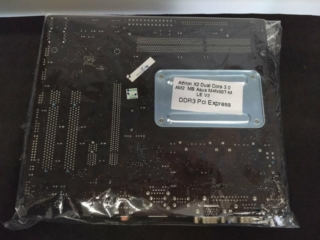 Kit placa mãe Athlon X2 dual Core 3.0ghz AM2 MB ASUS M4N68T-M - Foto 3