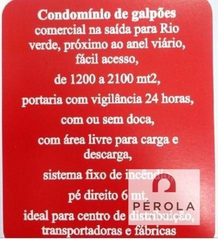 Comercial galpão / barracão - Bairro Fazenda Santa Rita em Goiânia - Foto 7