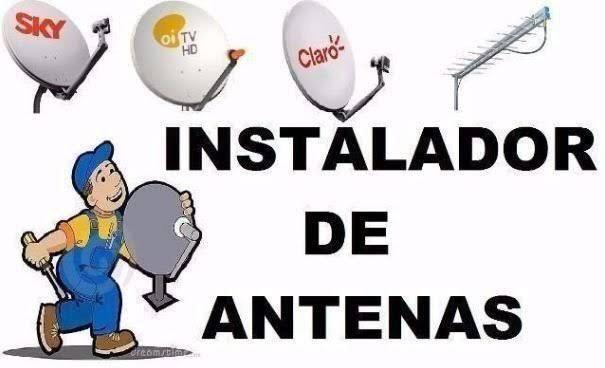 Instalação e manutenção de antena e instrutora de rede