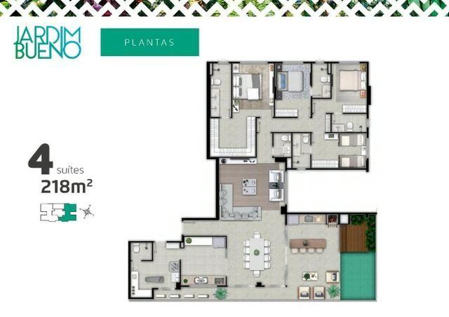 Ultima Penthouse Disponível - 218m² - Próximo do Goiânia Shopping e Parque Vaca Brava - Foto 2