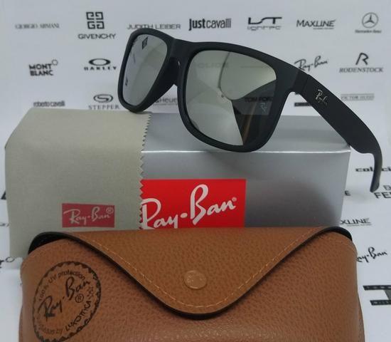 ea6d20cd7dcb6 Óculos de sol Ray Ban Justin Prata Espelhado Polarizado Novo ...