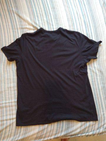 Camiseta. Tam. GG. Preta. 100% Algodão - Foto 5