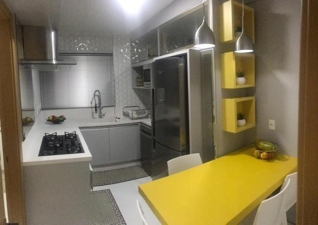 Apartamento todo mobiliado Ed Guiomar Rezende suíte+2quartos - Foto 12